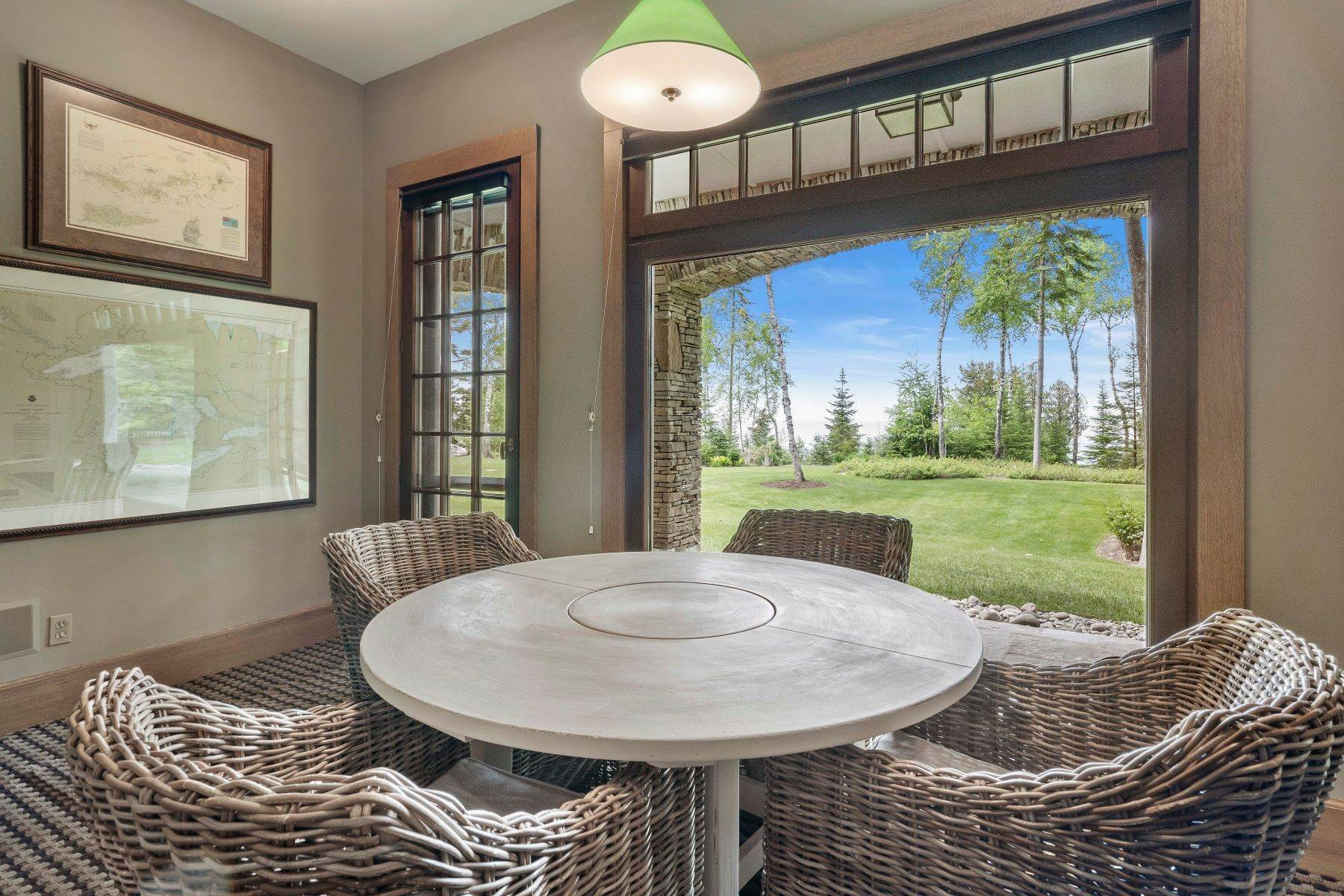 28. Single Family Homes for Sale at Private Lake Michigan Estate 6744 Preserve Drive North Bay Harbor, Michigan 49770 United States