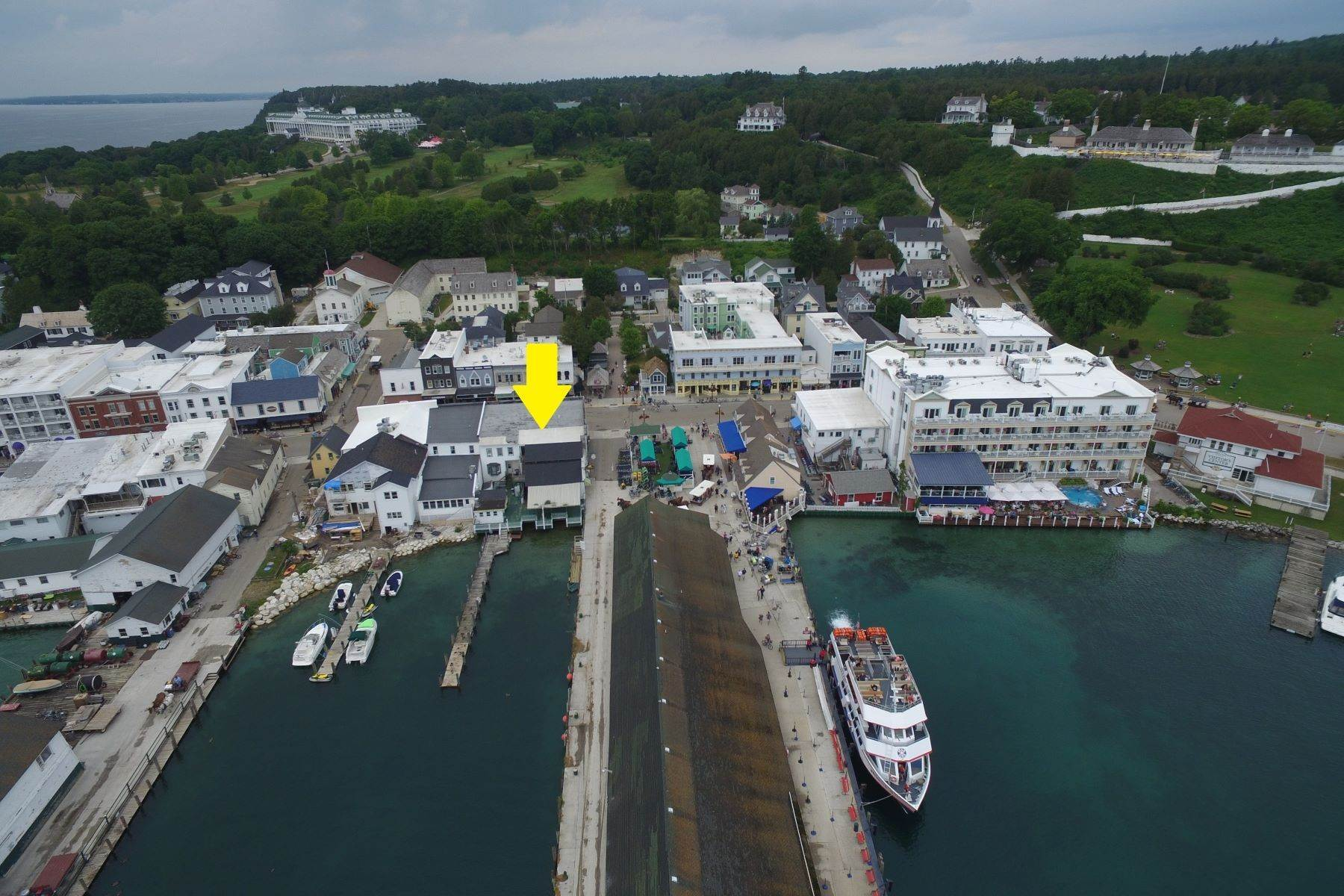 2. Commercial for Sale at Waterfront commercial building on Mackinac Island with retail space 7293 & 7279 Main Street Mackinac Island, Michigan 49757 United States