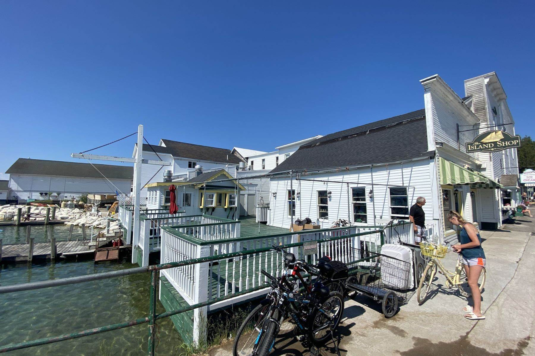 12. Commercial for Sale at Waterfront commercial building on Mackinac Island with retail space 7293 & 7279 Main Street Mackinac Island, Michigan 49757 United States