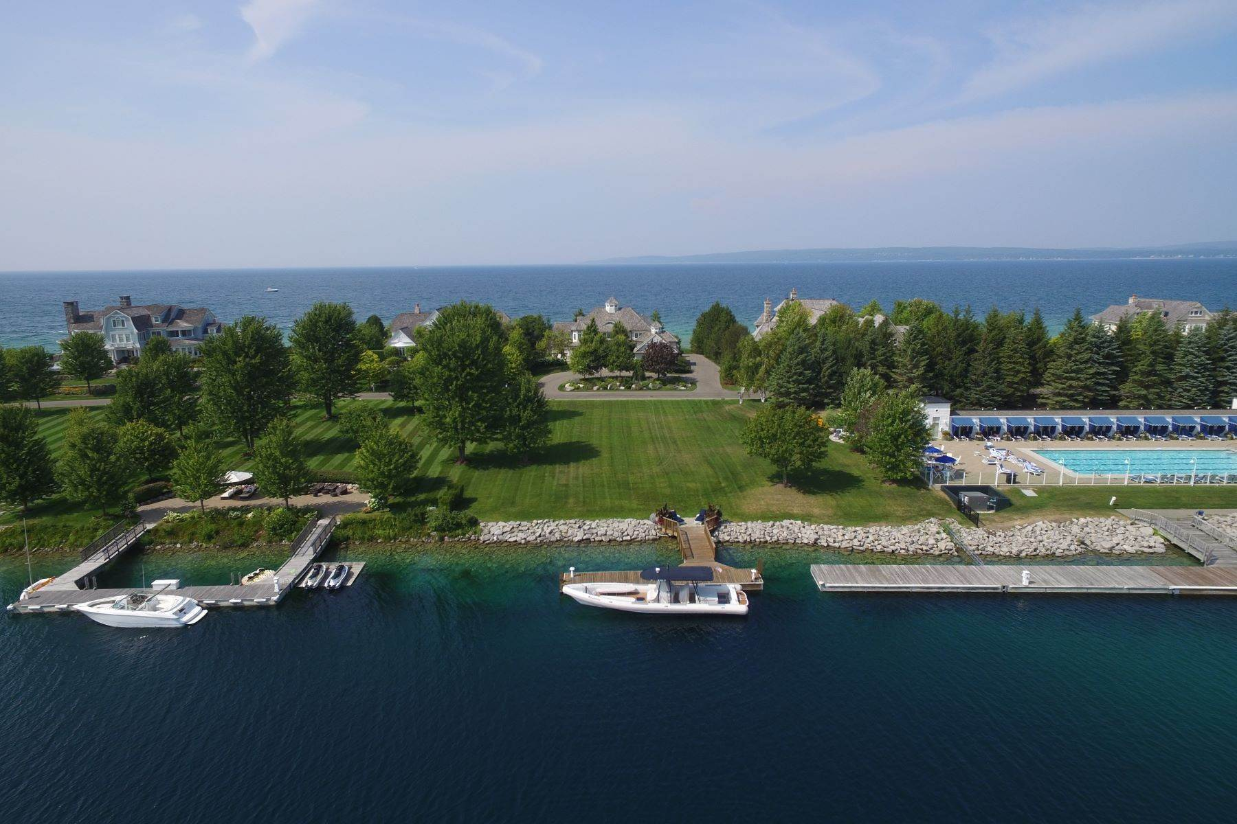 6. Single Family Homes for Sale at Custom-built estate on the gated Peninsula at Bay Harbor 3970 Peninsula Drive Bay Harbor, Michigan 49770 United States
