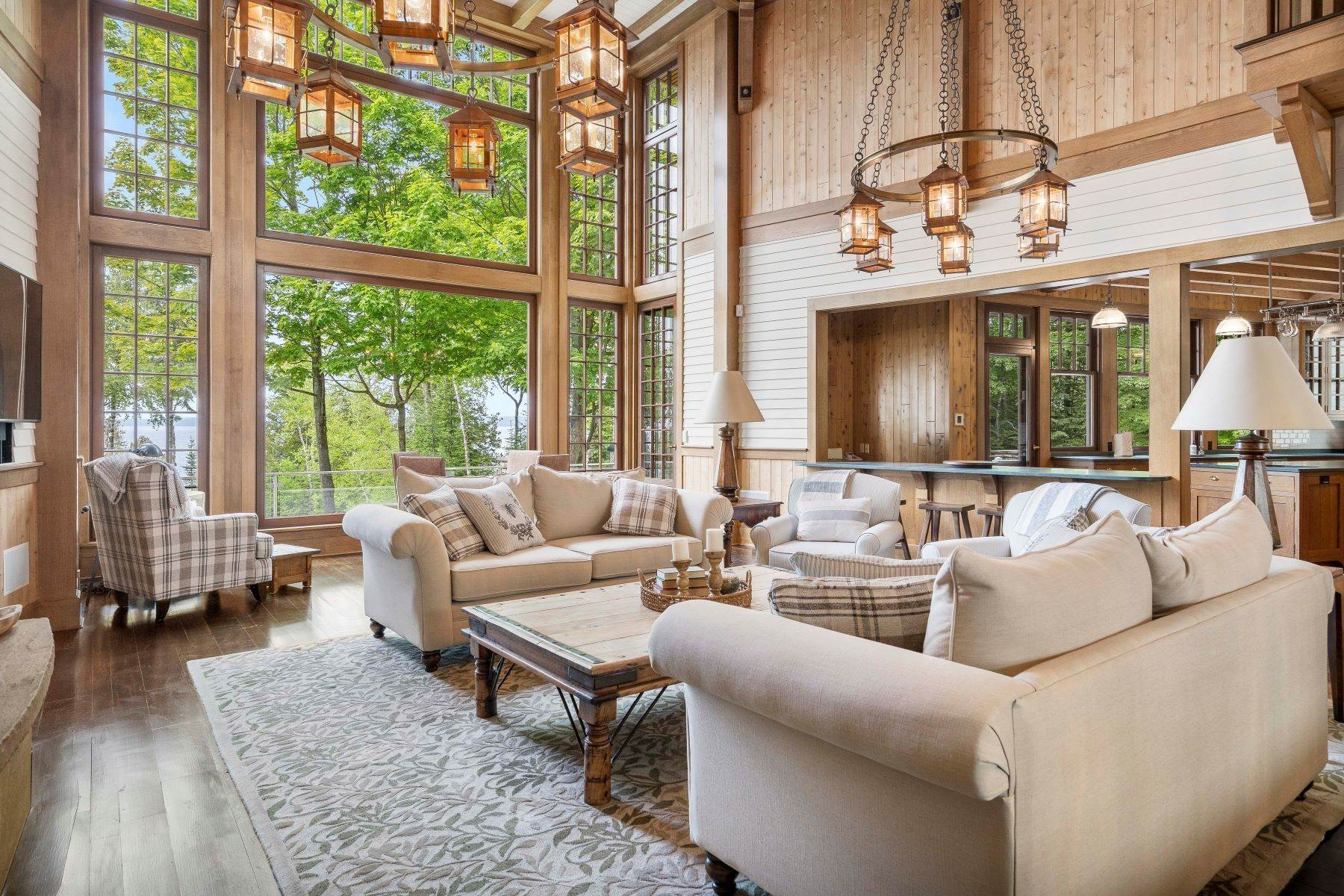 7. Single Family Homes for Sale at Private Lake Michigan Estate 6744 Preserve Drive North Bay Harbor, Michigan 49770 United States
