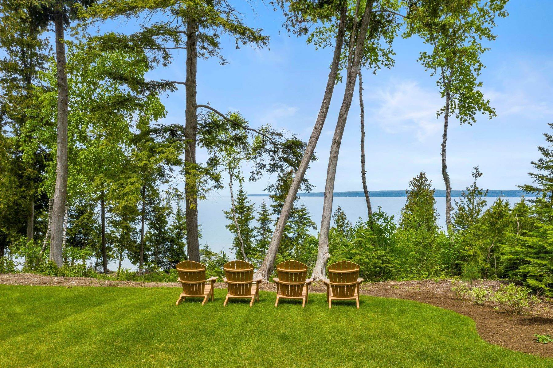 43. Single Family Homes for Sale at Private Lake Michigan Estate 6744 Preserve Drive North Bay Harbor, Michigan 49770 United States