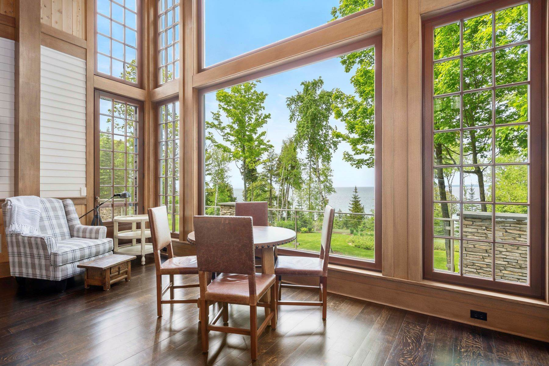 13. Single Family Homes for Sale at Private Lake Michigan Estate 6744 Preserve Drive North Bay Harbor, Michigan 49770 United States