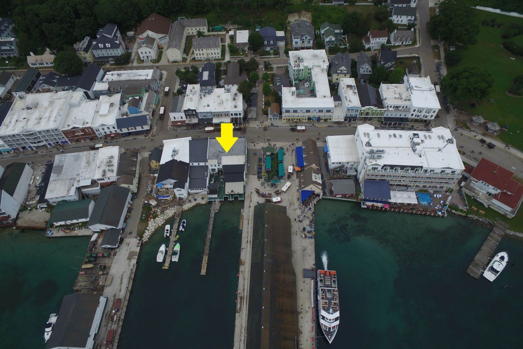 3. Commercial for Sale at Waterfront commercial building on Mackinac Island with retail space 7293 & 7279 Main Street Mackinac Island, Michigan 49757 United States