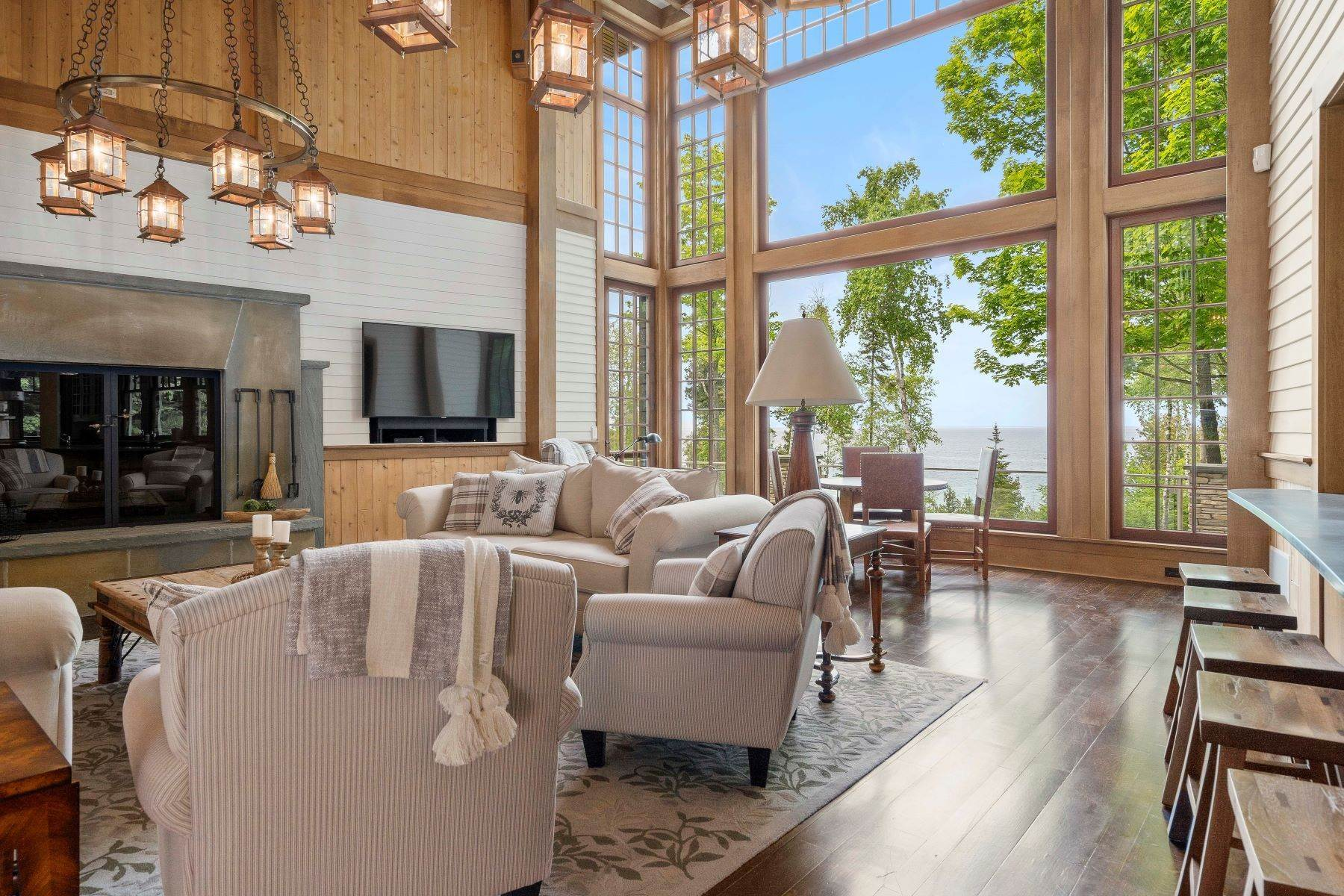 9. Single Family Homes for Sale at Private Lake Michigan Estate 6744 Preserve Drive North Bay Harbor, Michigan 49770 United States