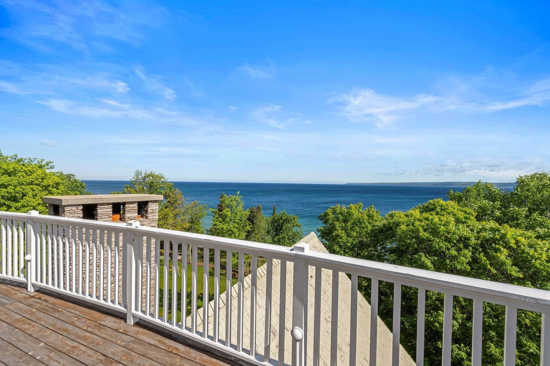 38. Single Family Homes for Sale at Private Lake Michigan Estate 6744 Preserve Drive North Bay Harbor, Michigan 49770 United States