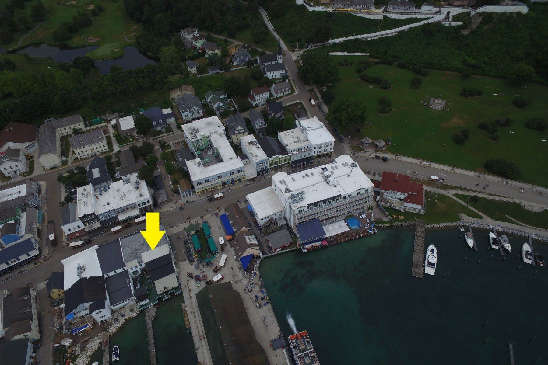 5. Commercial for Sale at Waterfront commercial building on Mackinac Island with retail space 7293 & 7279 Main Street Mackinac Island, Michigan 49757 United States