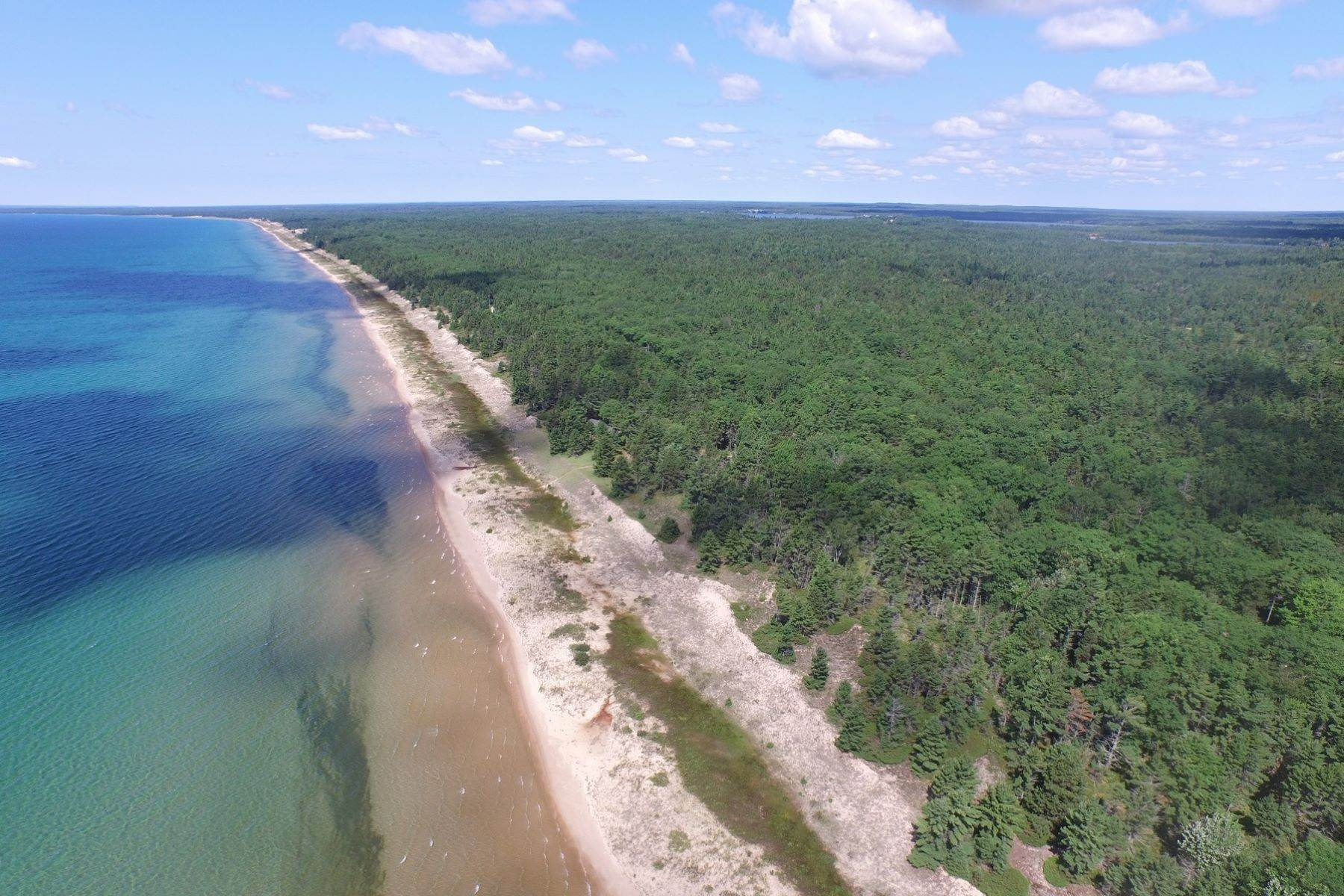 6. Single Family Homes for Sale at 2 Miles of Lake Michigan Waterfront 2625 W. Top O the Lake Road Gulliver, Michigan 49840 United States