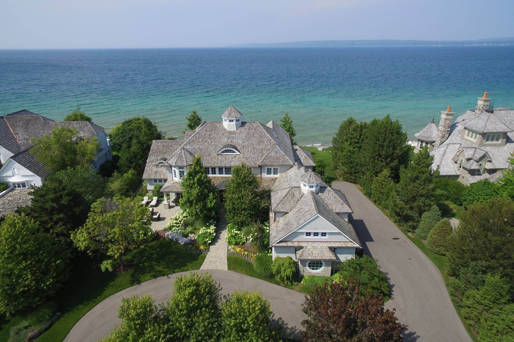 Single Family Homes for Sale at Custom-built estate on the gated Peninsula at Bay Harbor 3970 Peninsula Drive Bay Harbor, Michigan 49770 United States