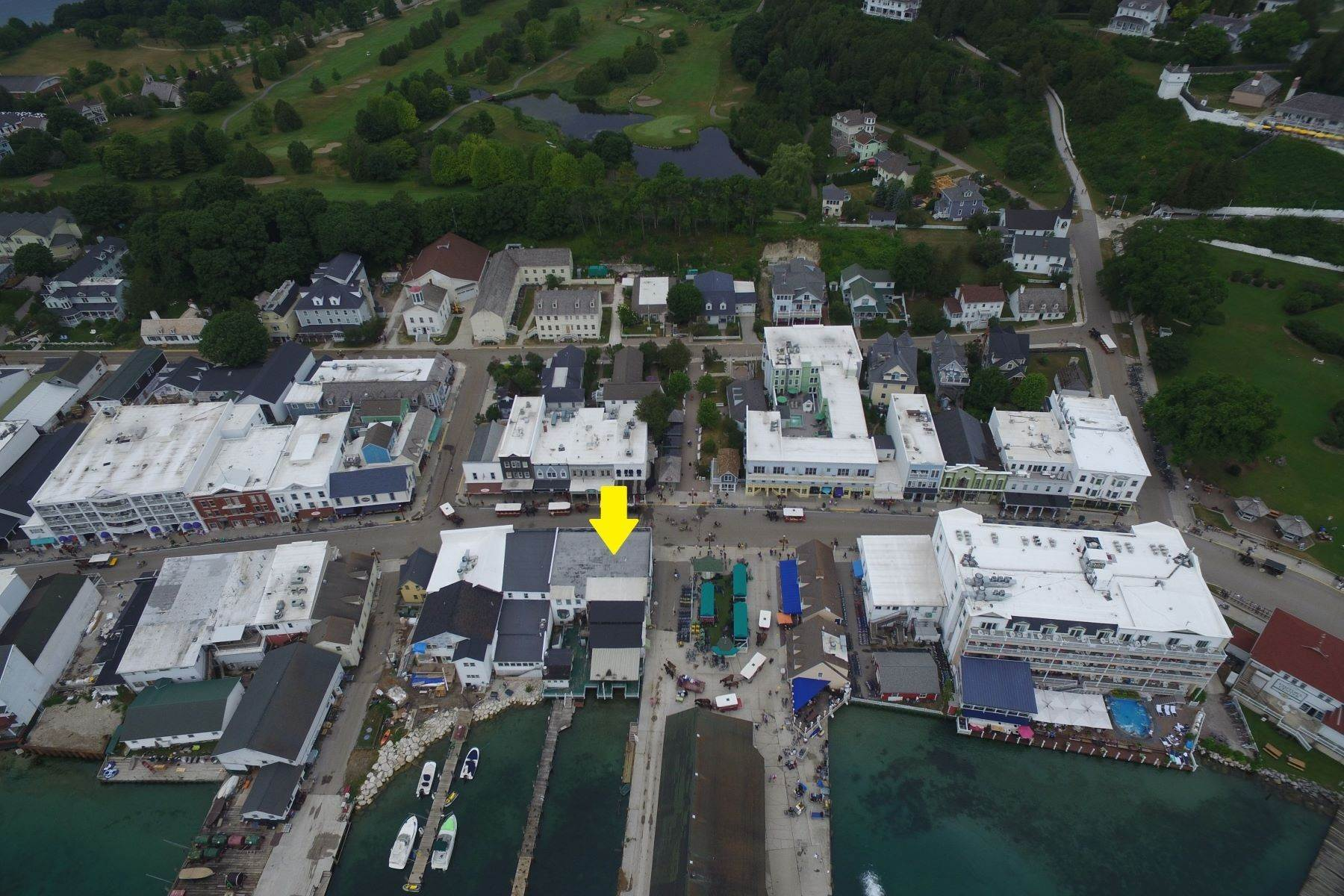 6. Commercial for Sale at Waterfront commercial building on Mackinac Island with retail space 7293 & 7279 Main Street Mackinac Island, Michigan 49757 United States