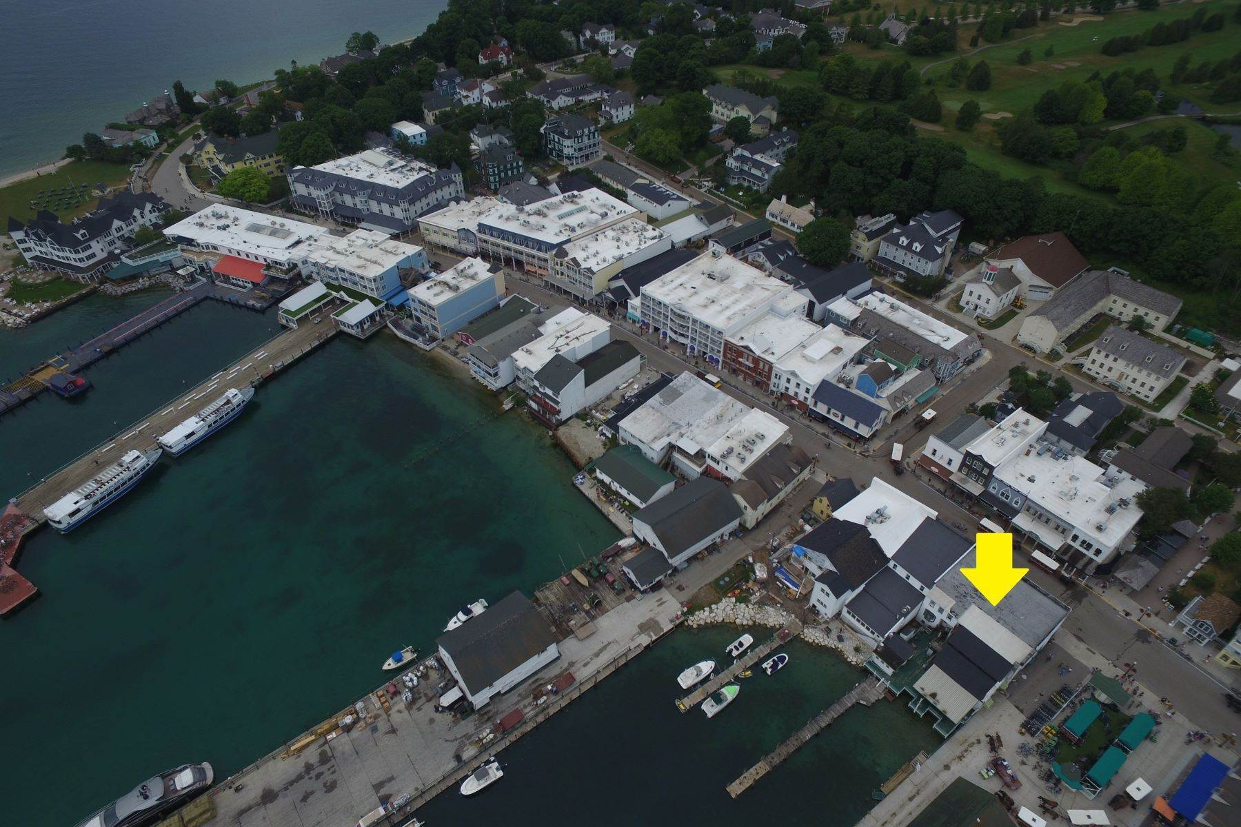 4. Commercial for Sale at Waterfront commercial building on Mackinac Island with retail space 7293 & 7279 Main Street Mackinac Island, Michigan 49757 United States