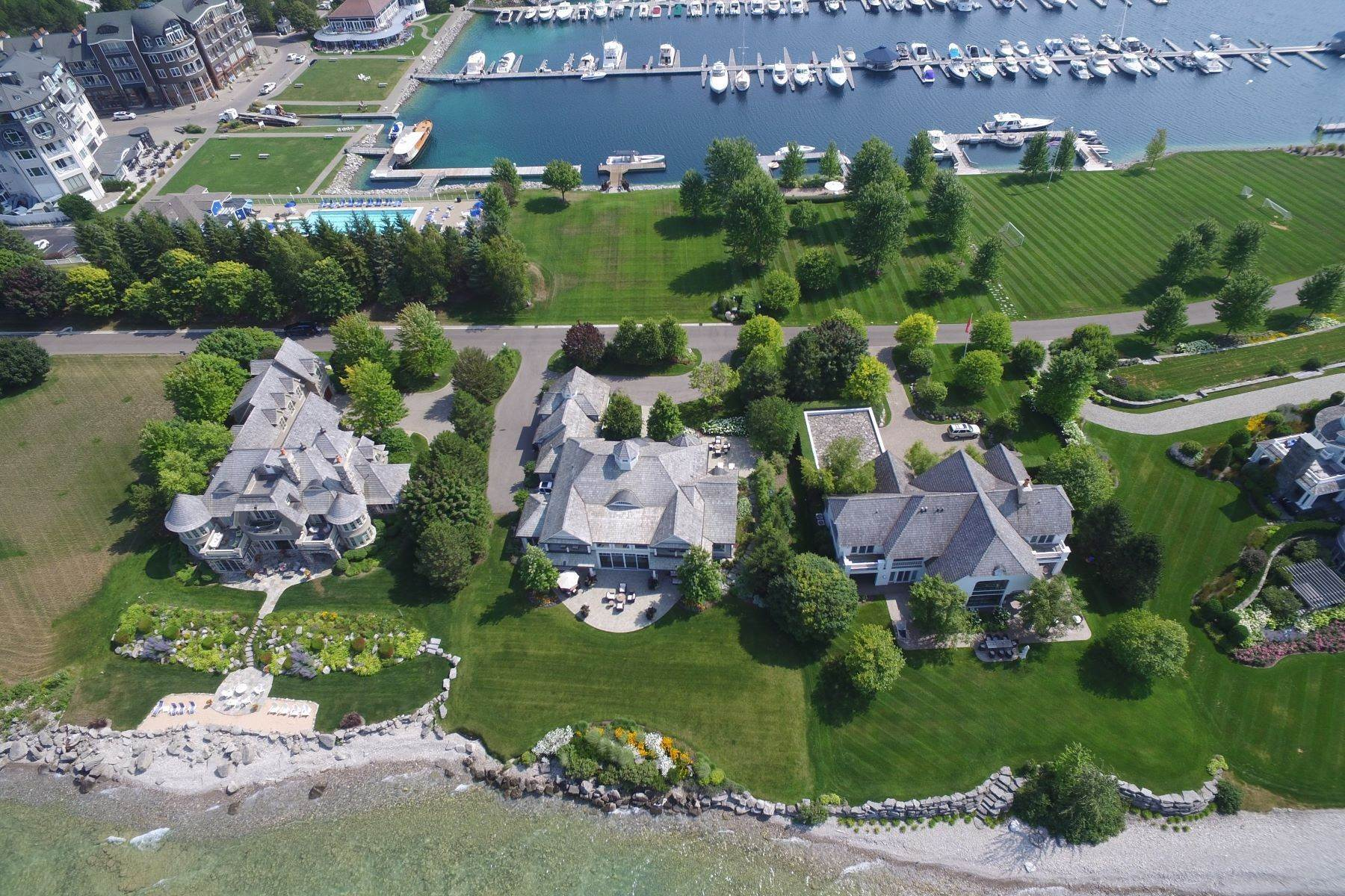 3. Single Family Homes for Sale at Custom-built estate on the gated Peninsula at Bay Harbor 3970 Peninsula Drive Bay Harbor, Michigan 49770 United States