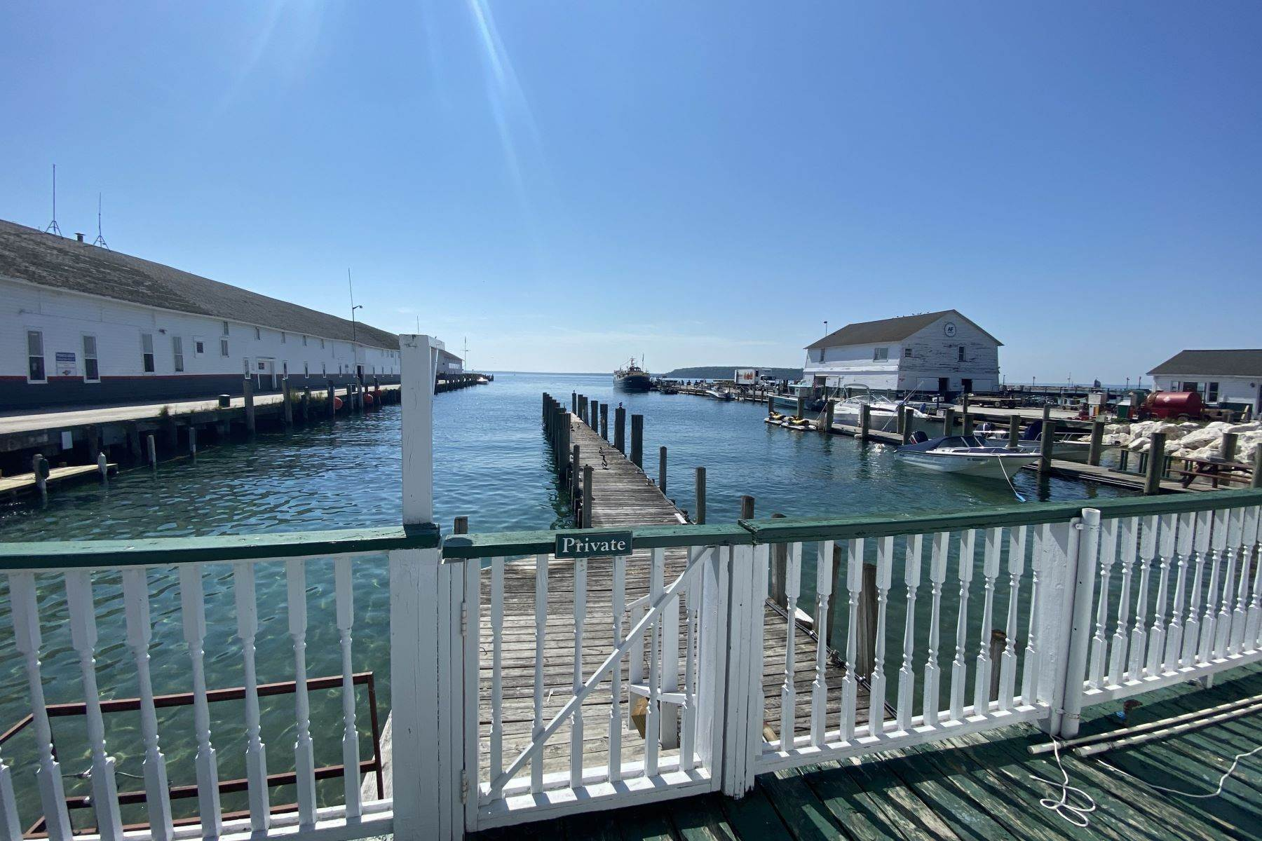 10. Commercial for Sale at Waterfront commercial building on Mackinac Island with retail space 7293 & 7279 Main Street Mackinac Island, Michigan 49757 United States