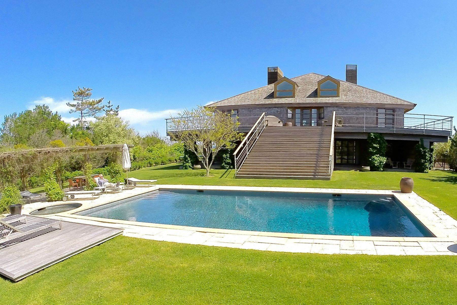 Single Family Homes at Stunning Contemporary Oceanfront 139 Crestview Drive Sagaponack, New York 11962 United States